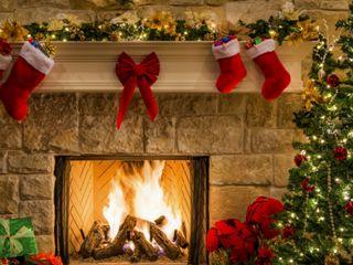 Обои на телефон счастливое, рождество, подарок, дерево