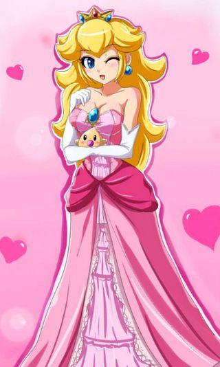 Обои на телефон принцесса, сердце, розовые, персик, нинтендо, милые, марио, игра, nintendo