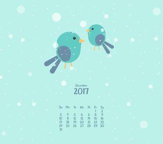Обои на телефон календарь, птицы, милые, декабрь, cute birds, 12.cal