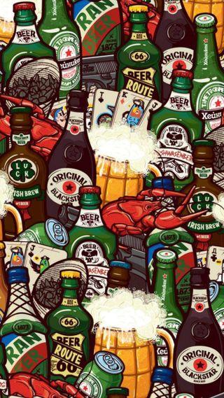 Обои на телефон зеленые, алкоголь, hombre, cerveza