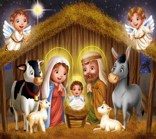 Обои на телефон рождество, религия, праздник, исус, jesus birth