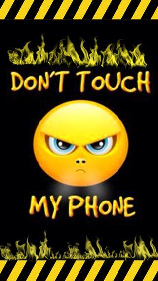 Обои на телефон трогать, не, телефон, мой, warnig, gontu