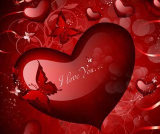 Обои на телефон бабочки, любовь, валентинки, valentines dayheart, love, 960x800px