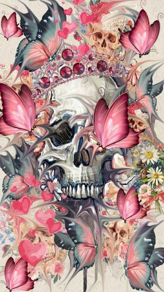Обои на телефон сахар, череп, пастельные, милые, мертвый, день, бабочки, live, frenzy