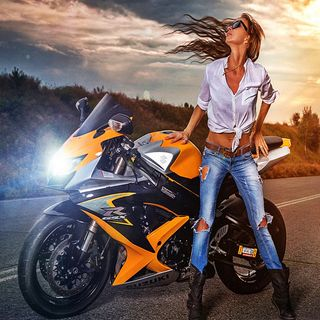 Обои на телефон мотоциклы, девушки, байк, motor