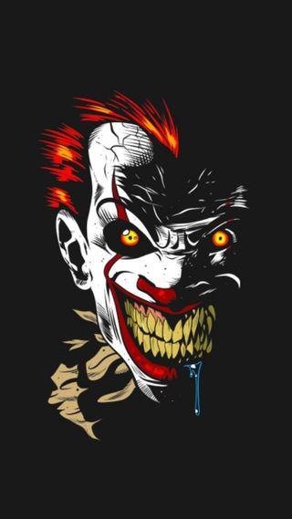 Обои на телефон танцы, клоун, зло, смайлики, the dancing clown, evil clown