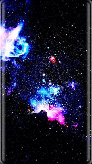 Обои на телефон черные, синие, розовые, звезды, грани, галактика, абстрактные, s7 edge, s7, galaxy