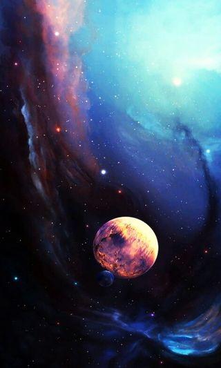 Обои на телефон яркие, туманность, небо, луна, красочные, carina