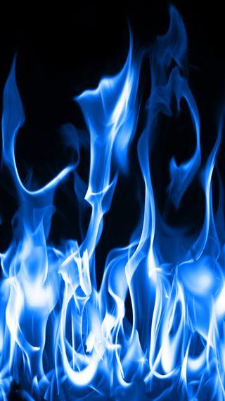 Обои на телефон пламя, синие, огонь