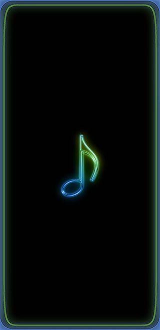 Обои на телефон синие, музыка, note8, live