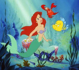 Обои на телефон русалка, маленький, дисней, ариэль, little mermaid, disney