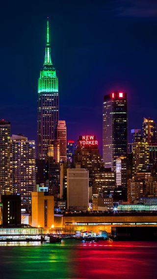 Обои на телефон сша, огни, ночь, новый, город, usa