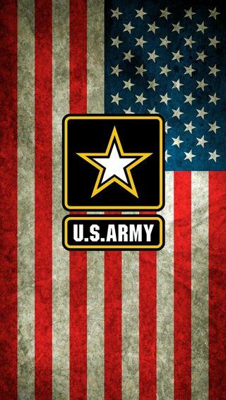 Обои на телефон флаг, сша, логотипы, армия, американские, америка, usa, us flag w army logo, us
