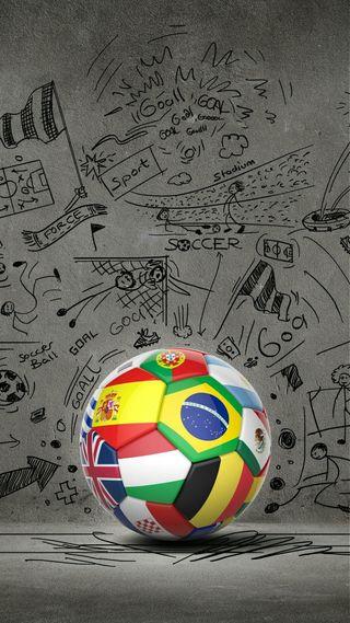 Обои на телефон флаги, футбольные, футбол, спорт, мяч, mondial