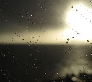 Обои на телефон окно, солнце, капли, дождь, seseyanoo, hd