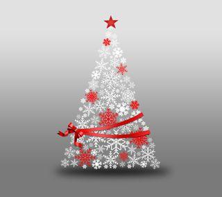 Обои на телефон снежинки, рождество, дерево
