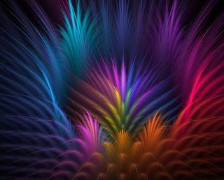 Обои на телефон перья, цветные, feathers- colors