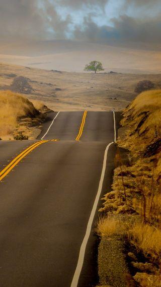 Обои на телефон дороги, каньон, каникулы, дорога, великий