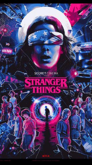 Обои на телефон странные, стив, секрет, сезон, робин, одиннадцать, майк, кино, дела, stranger things sc, secret cinema, season 3, lucas, dustin