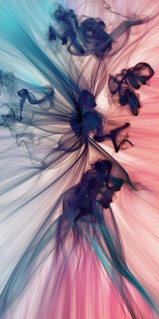 Обои на телефон дым, цветные, дизайн, бабочки, абстрактные, smoke abstract, fullhdplus