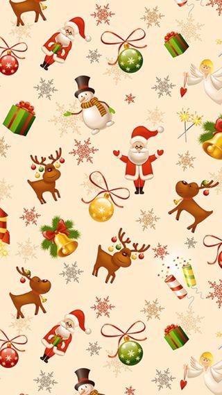 Обои на телефон санта, рождество, праздник, зима