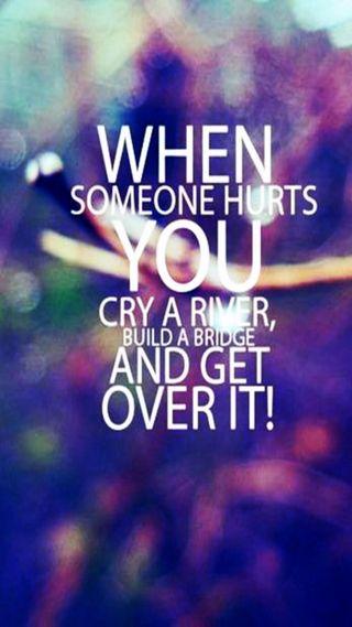 Обои на телефон река, повредить, оно, мост, someone, get over it, get over, cry