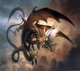 Обои на телефон террор, siniestros, gotico, dragoes - 003