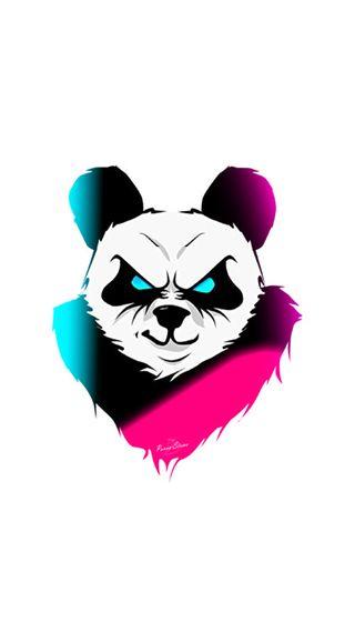 Обои на телефон рисунок, панда, pandabad
