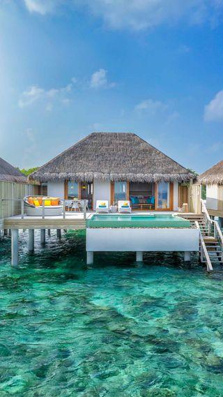 Обои на телефон супер, рай, приятные, океан, небо, море, лучшие, крутые, красота, дом, вода, pool