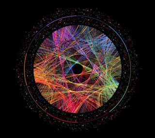 Обои на телефон круги, черные, цветные, красочные, абстрактные