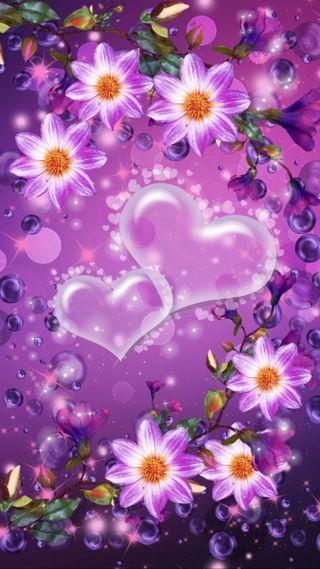 Обои на телефон пузыри, маргаритка, сердце, белые, white bubble hearts