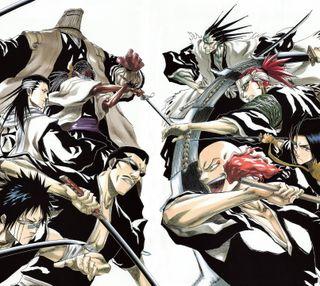 Обои на телефон мечи, блич, бой, аниме, captains, bleach fight, bankai