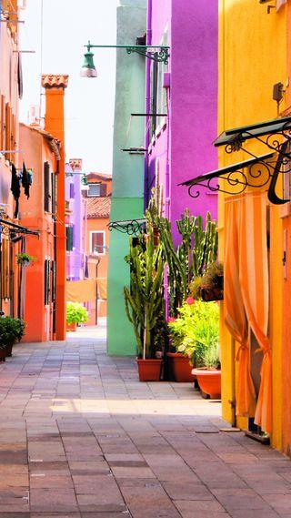 Обои на телефон италия, цветные, путь, природа, прекрасные, дома, stree, beautiful italy