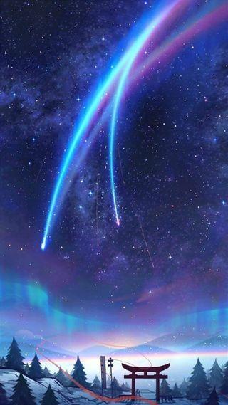 Обои на телефон китай, космос, звезды, звезда, аниме, анимация, kimi no na wa, japone