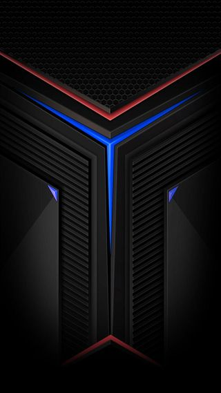 Обои на телефон треугольники, черные, формы, темные, синие, красые, дизайн, грани, абстрактные, v shapes, hd