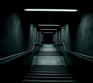 Обои на телефон жуткие, темные, лестница, mysterious, dark stairway