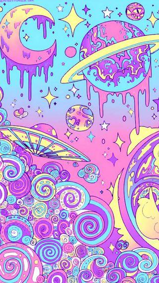 Обои на телефон цветные, темы, поездка, пастельные, мир, луна, космос, color cosmo