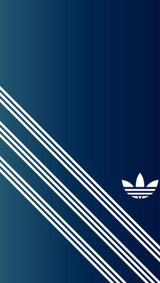 Обои на телефон синие, логотипы, белые, адидас, adidas