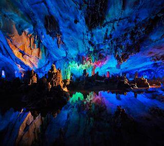 Обои на телефон китай, рок, пещера, камни, cavern