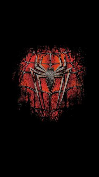 Обои на телефон человек паук, черные, паук, логотипы, красые, герой