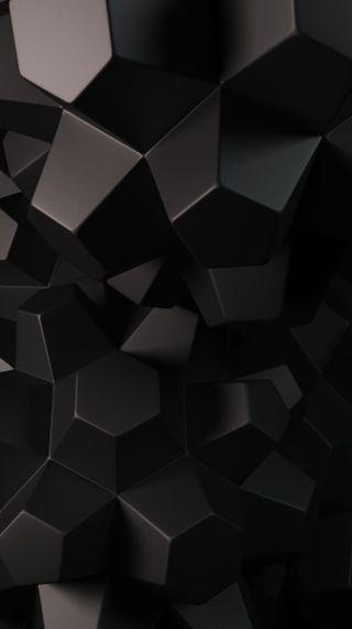 Обои на телефон 3d geometry, абстрактные, темные, 3д, геометрия