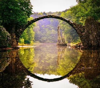 Обои на телефон дьявол, природа, пейзаж, мост, devils bridge