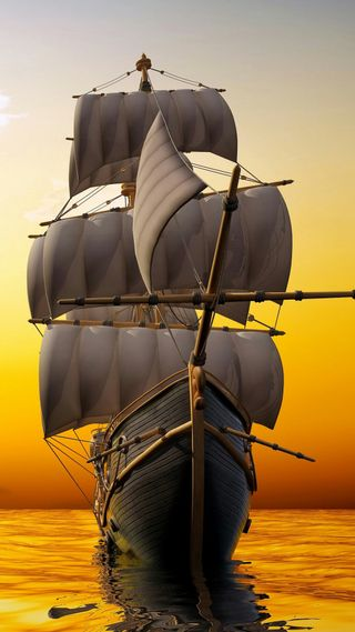 Обои на телефон военно морские, пираты, море, луна, корабли, hd, enirti