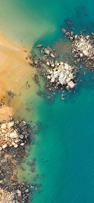 Обои на телефон берег, океан, море, камни, coast 3