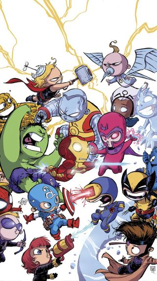 Обои на телефон чиби, мстители, марвел, маленький, люди, крошечный, герой, x-men, marvel