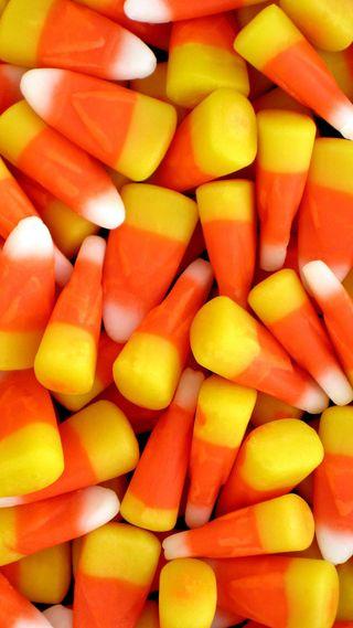 Обои на телефон хэллоуин, конфеты, candy corn