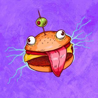 Обои на телефон мем, фортнайт, fortnite, bur burger, 4k