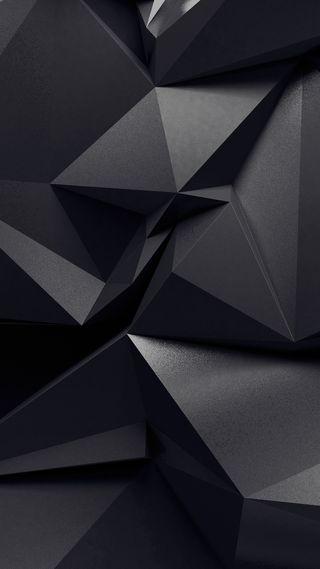 Обои на телефон многоугольник, шаблон, черные, стандартные, андроид, абстрактные, zero 4, infinix, android, 3д, 3d