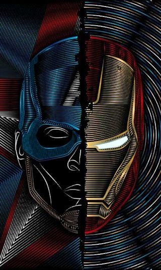 Обои на телефон железный, мстители, марвел, комиксы, капитан, гражданская, война, marvel, man, dc, captian, captain a - iron man