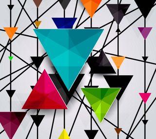 Обои на телефон colored abstract, triangles design, абстрактные, дизайн, фон, цветные, треугольники